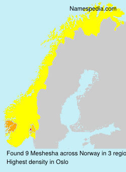 Surname Meshesha in Norway