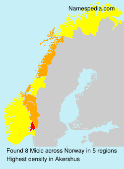 Surname Micic in Norway