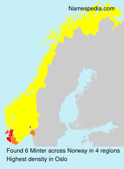 Surname Minter in Norway