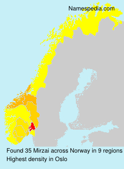 Surname Mirzai in Norway
