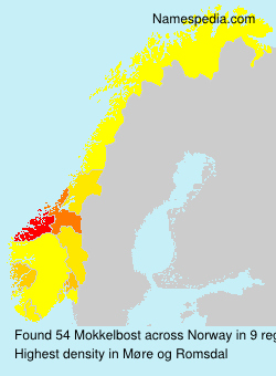 Surname Mokkelbost in Norway