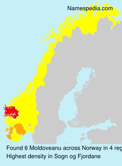 Surname Moldoveanu in Norway