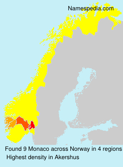 Surname Monaco in Norway