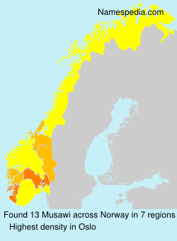 Surname Musawi in Norway