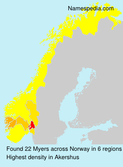 Surname Myers in Norway