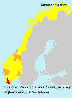 Surname Myhrstad in Norway