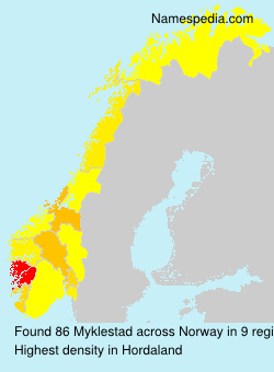 Surname Myklestad in Norway