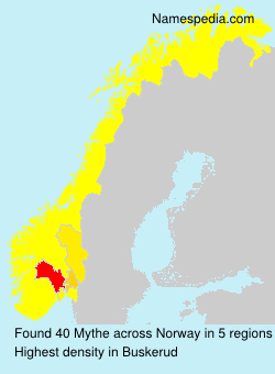 Surname Mythe in Norway