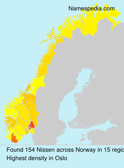 Surname Nissen in Norway
