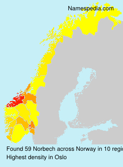 Surname Norbech in Norway