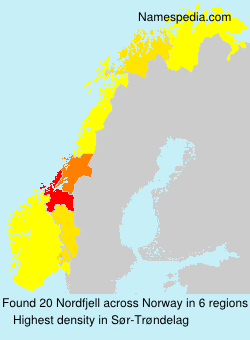 Surname Nordfjell in Norway