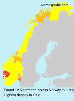 Surname Nordmann in Norway