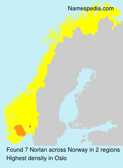 Surname Norlan in Norway