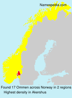 Surname Ommen in Norway