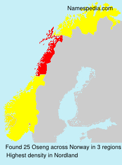 Surname Oseng in Norway