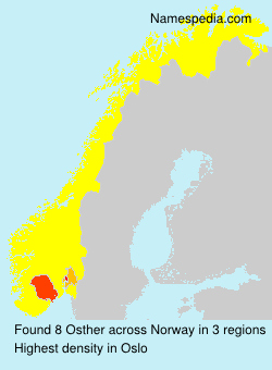 Surname Osther in Norway