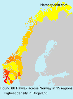Surname Pawlak in Norway