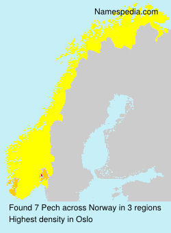 Surname Pech in Norway