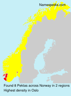Surname Pektas in Norway