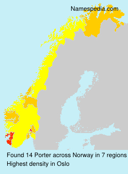 Surname Porter in Norway