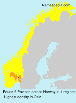 Surname Povlsen in Norway