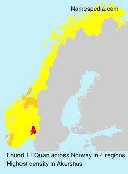 Surname Quan in Norway