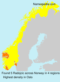 Surname Radojcic in Norway