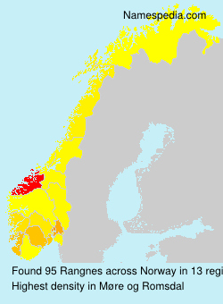 Surname Rangnes in Norway
