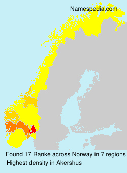 Surname Ranke in Norway