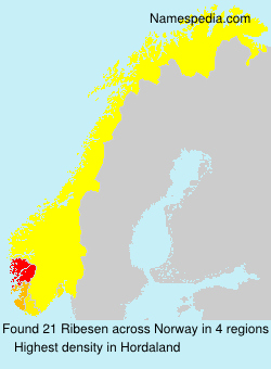 Surname Ribesen in Norway