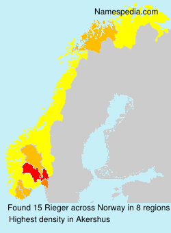 Surname Rieger in Norway