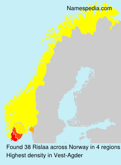Surname Rislaa in Norway