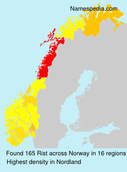 Surname Rist in Norway