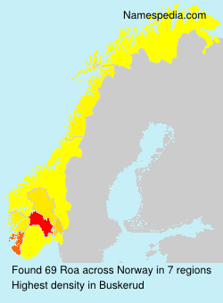 Surname Roa in Norway