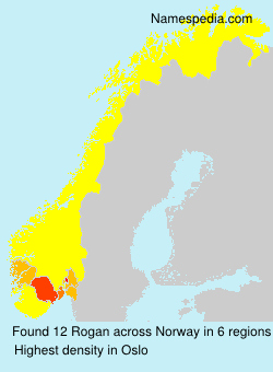 Surname Rogan in Norway