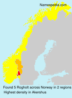 Surname Rogholt in Norway