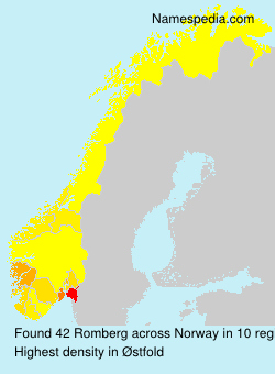 Surname Romberg in Norway