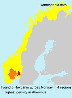 Surname Rovcanin in Norway