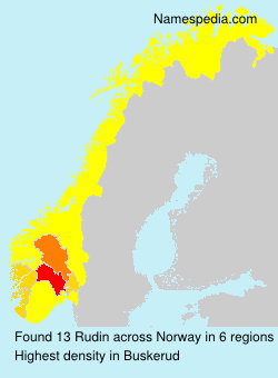 Surname Rudin in Norway