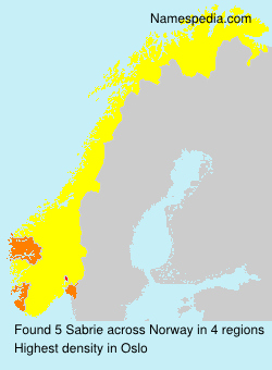 Surname Sabrie in Norway