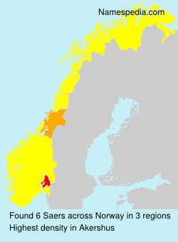 Surname Saers in Norway