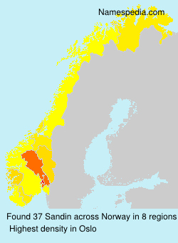 Surname Sandin in Norway
