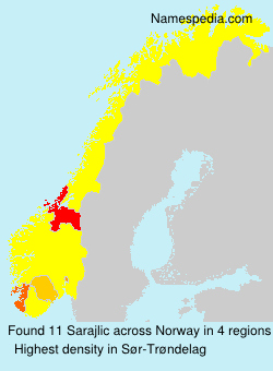 Surname Sarajlic in Norway