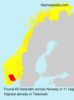 Surname Selander in Norway