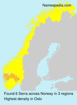 Surname Serra in Norway