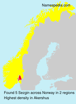 Surname Sezgin in Norway