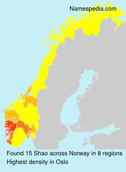 Surname Shao in Norway