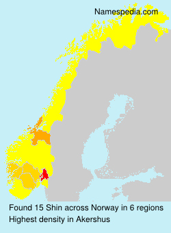 Surname Shin in Norway