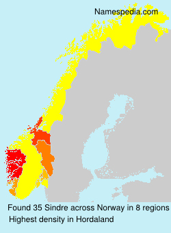 Surname Sindre in Norway