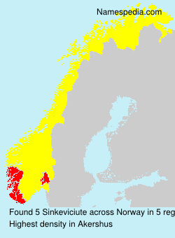 Surname Sinkeviciute in Norway